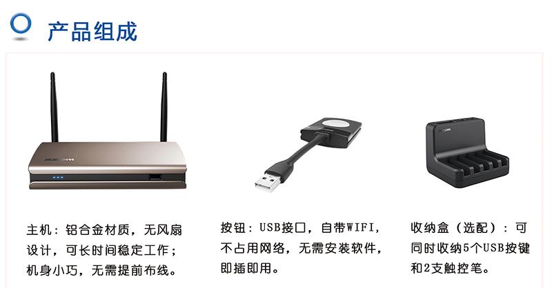 BOEGAM CS-100一键联无线投屏系统